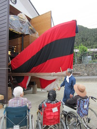 お船見学に行きました。